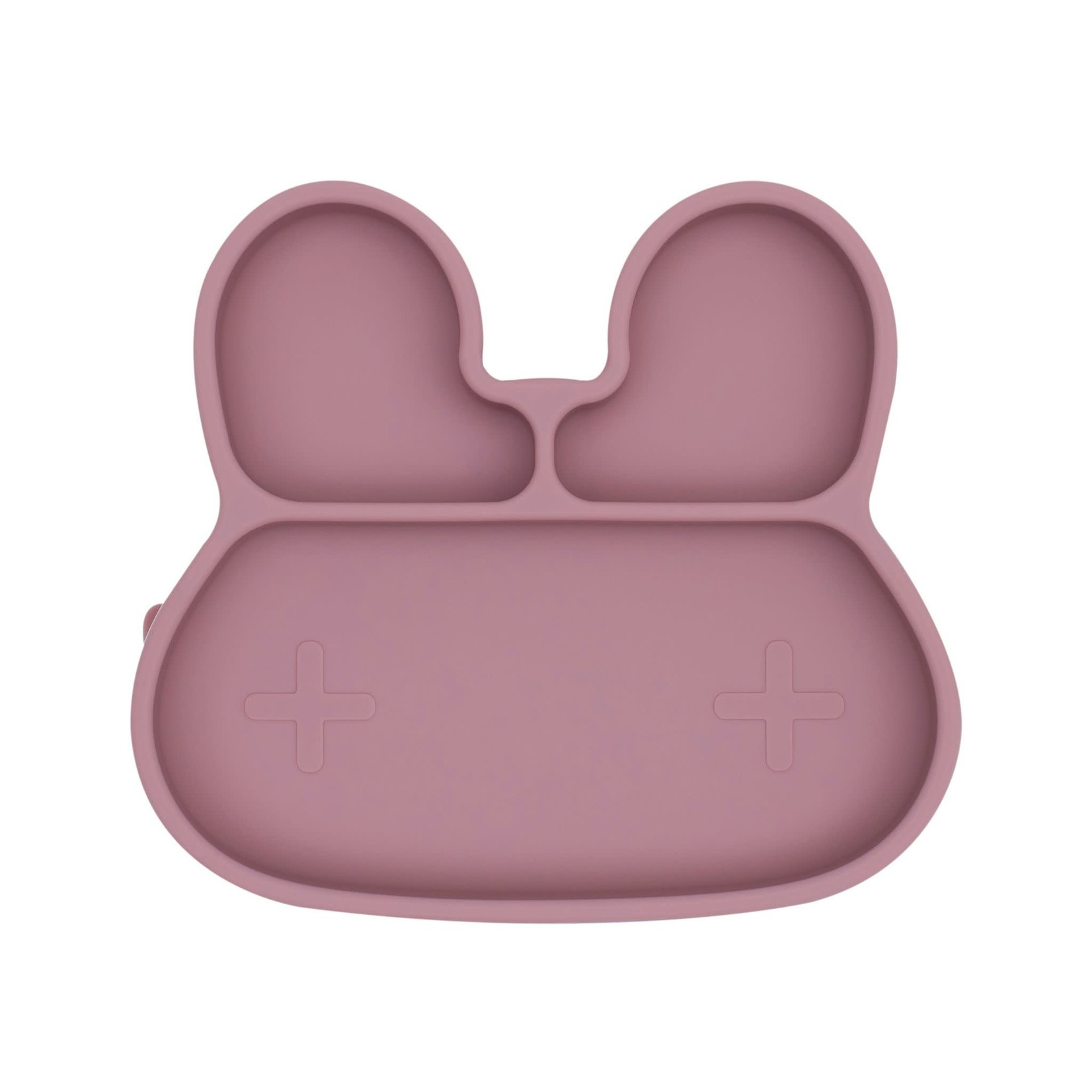We Might Be Tiny Bunny Sticky Plate (Dusty Rose)