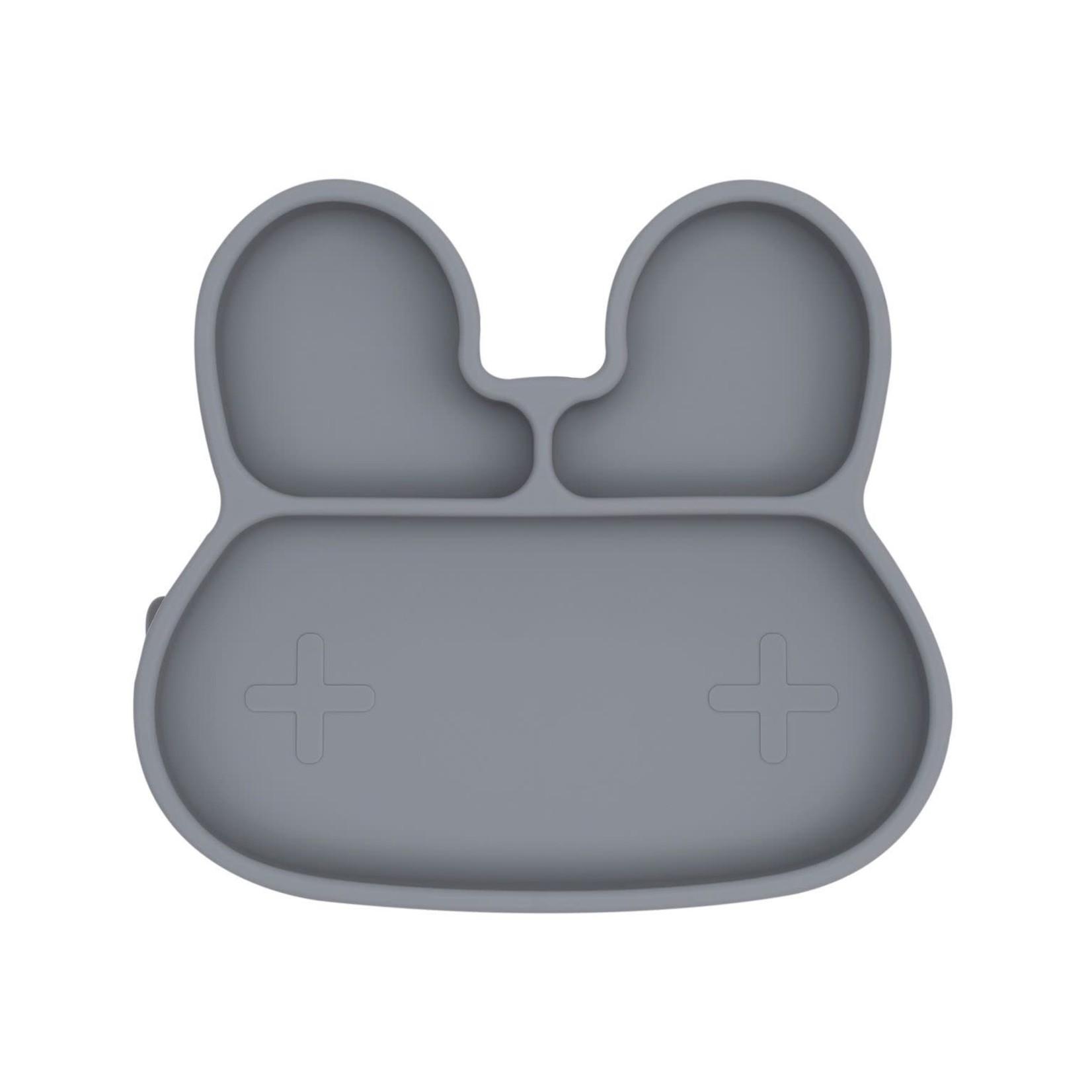 We Might Be Tiny Bunny Sticky Plate (Grey)