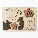 Wee Gallery Houten puzzel (Ocean Animals)