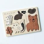 Wee Gallery Houten puzzel (Woodland Animals)
