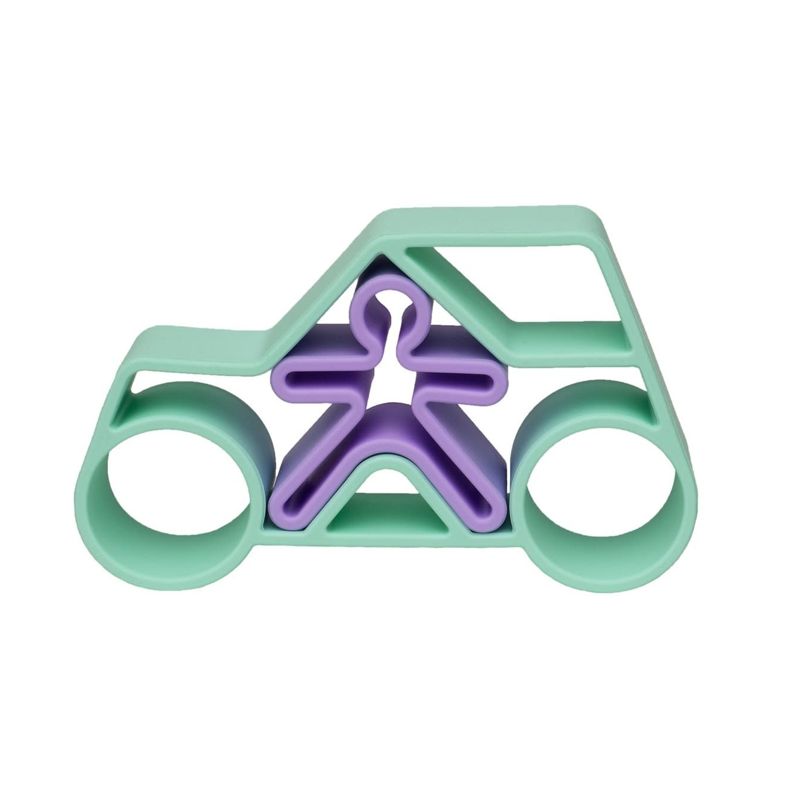 dëna Auto met kindje (Pastel groen)