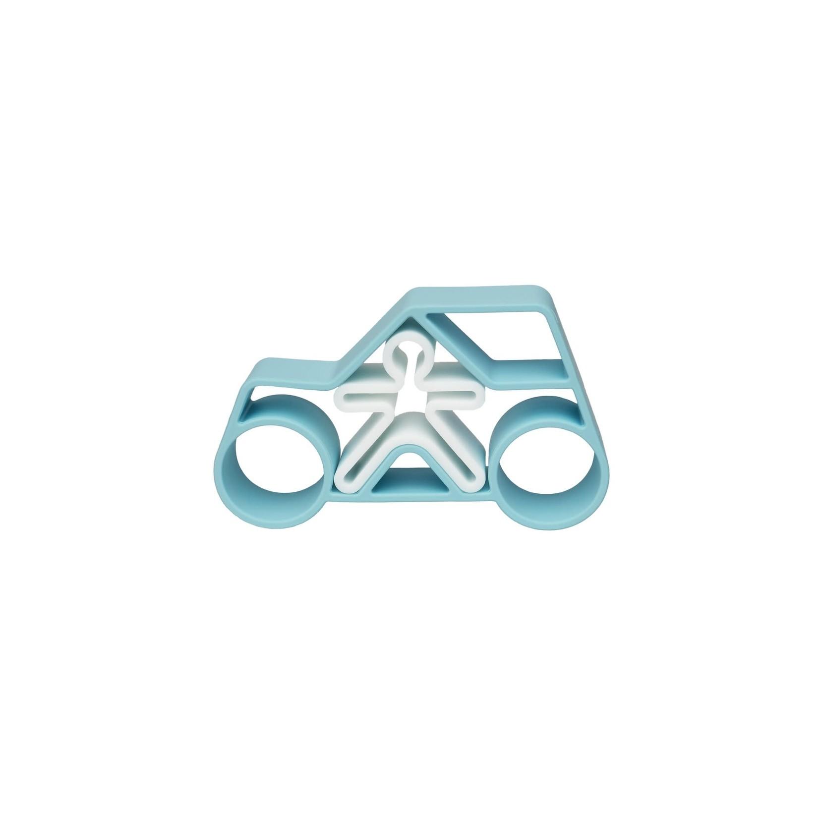 dëna Auto met kindje (Pastel blauw)