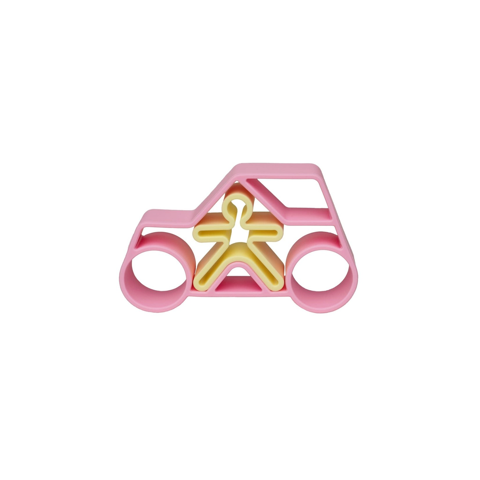 dëna Auto met kindje (Pastel roze)
