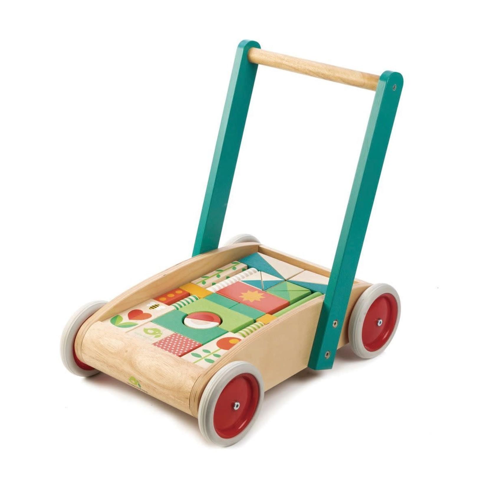 Tender Leaf Toys Loopwagentje met blokken