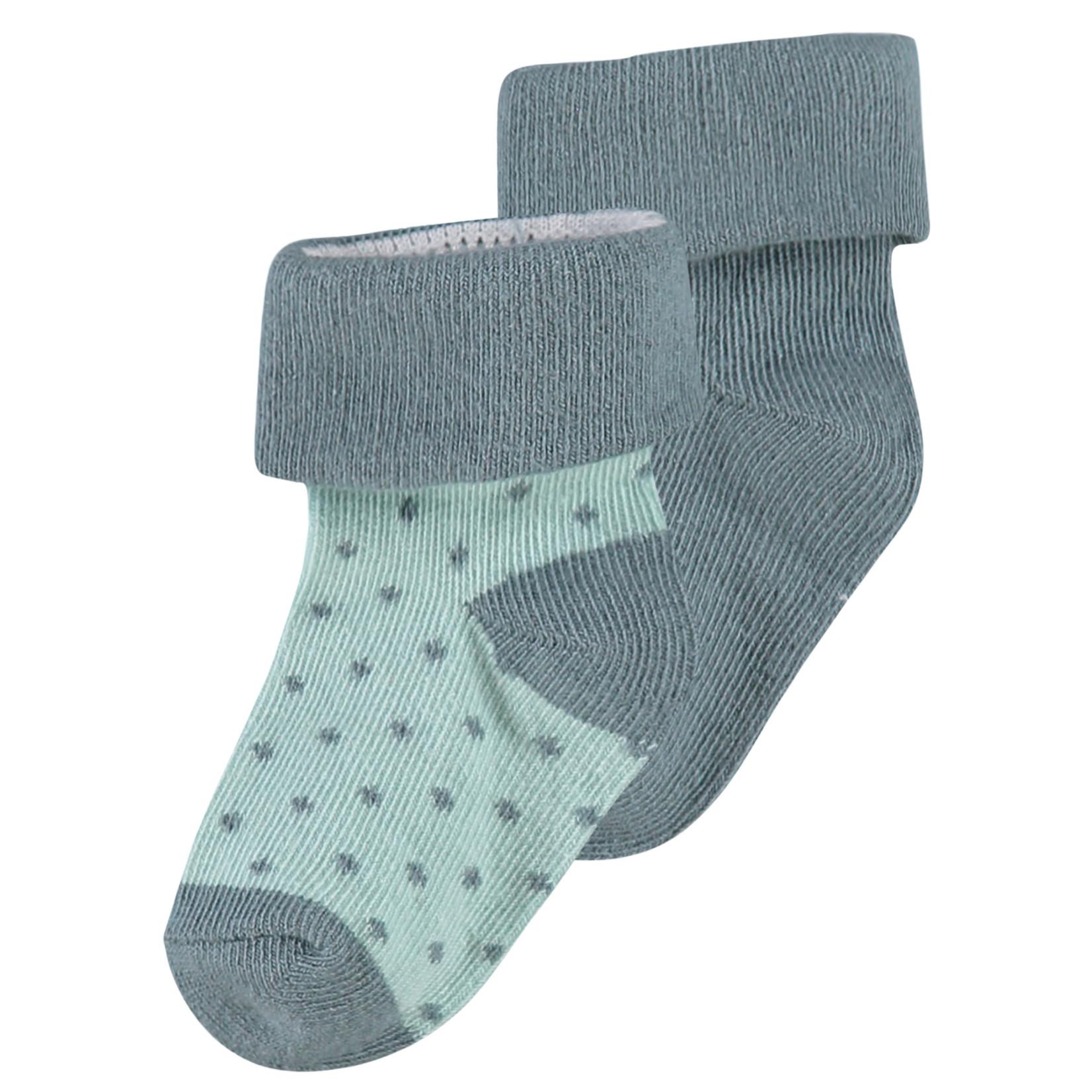 Noppies 2 paar sokken Dot (Dark Green)
