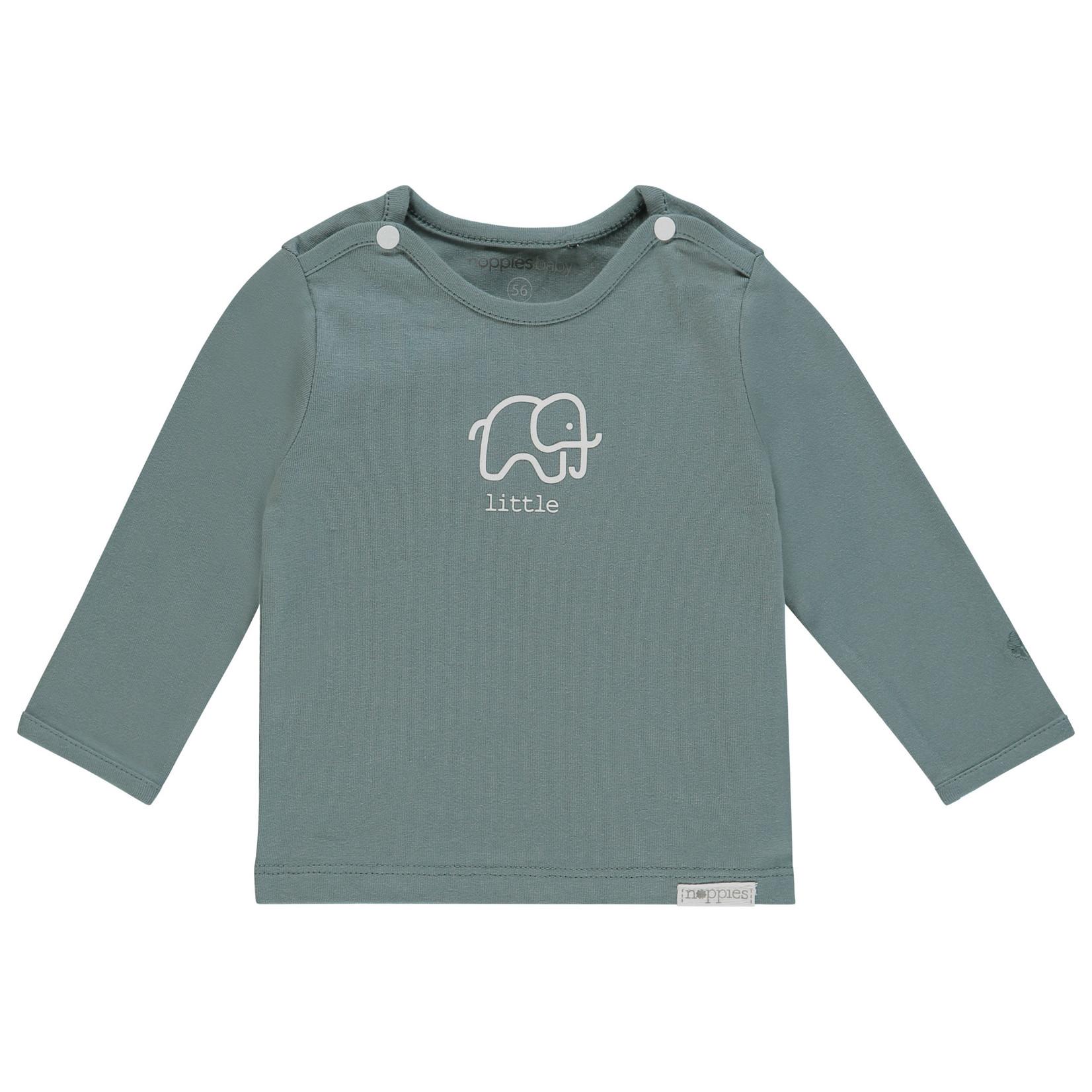 Noppies T-shirt lange mouw Amanda elephant (Dark Green)