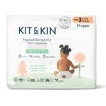 Kit & Kin Ecologische wegwerpluiers (Maat 3: 6-10kg)
