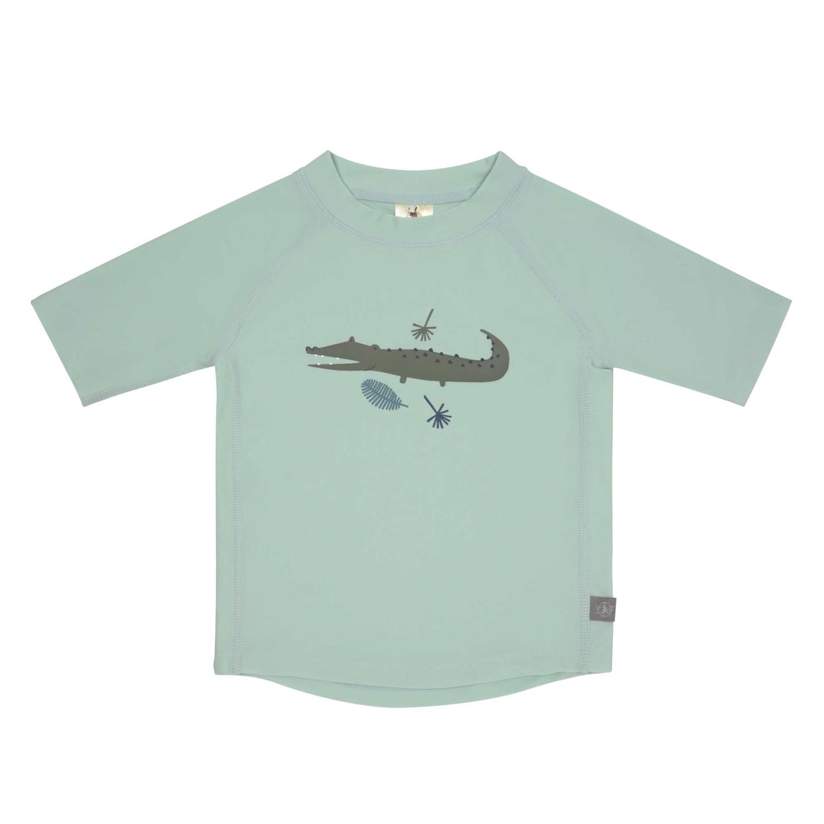 Lässig UV-shirt korte mouw (Krokodil munt)