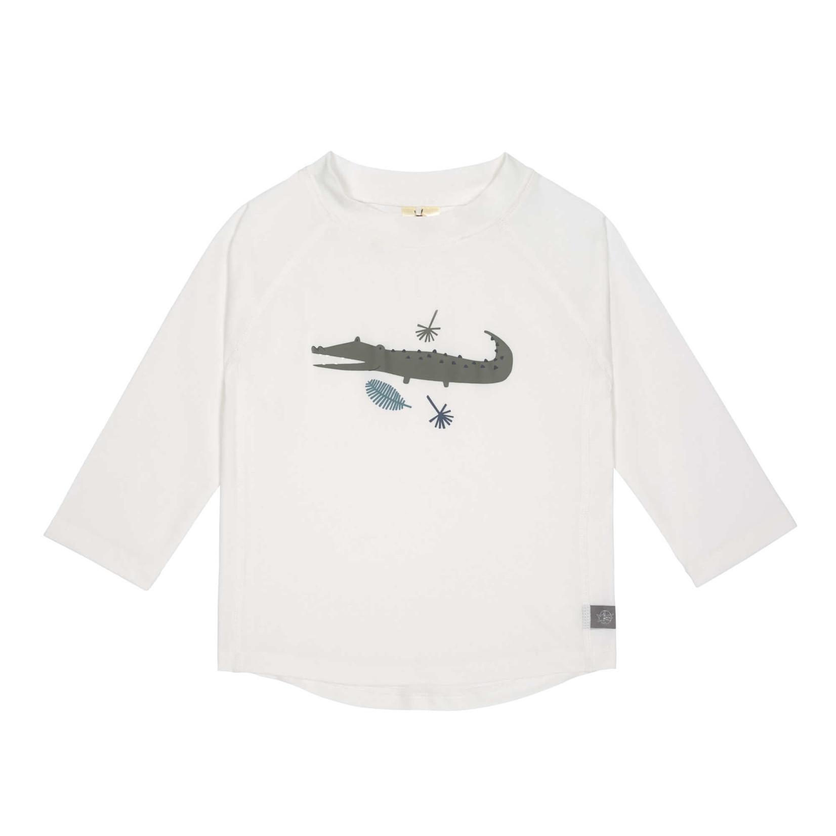 Lässig UV-shirt lange mouw (Krokodil wit)