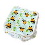 Cheeky Wipes 25 wasbare doekjes bamboe minky (Bee Happy)
