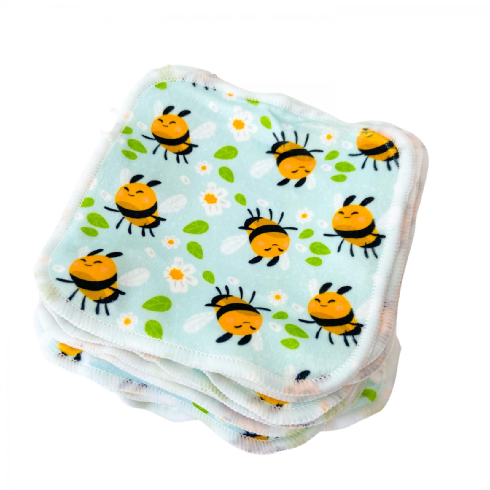 Cheeky Wipes 25 wasbare doekjes bamboe plush (Bee Happy)