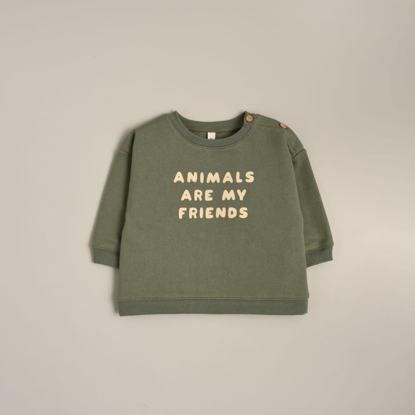 Organic Zoo Sweatshirt - Animals Are My Friends