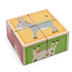 Scratch Blokkenpuzzel hout - Boerderijdieren