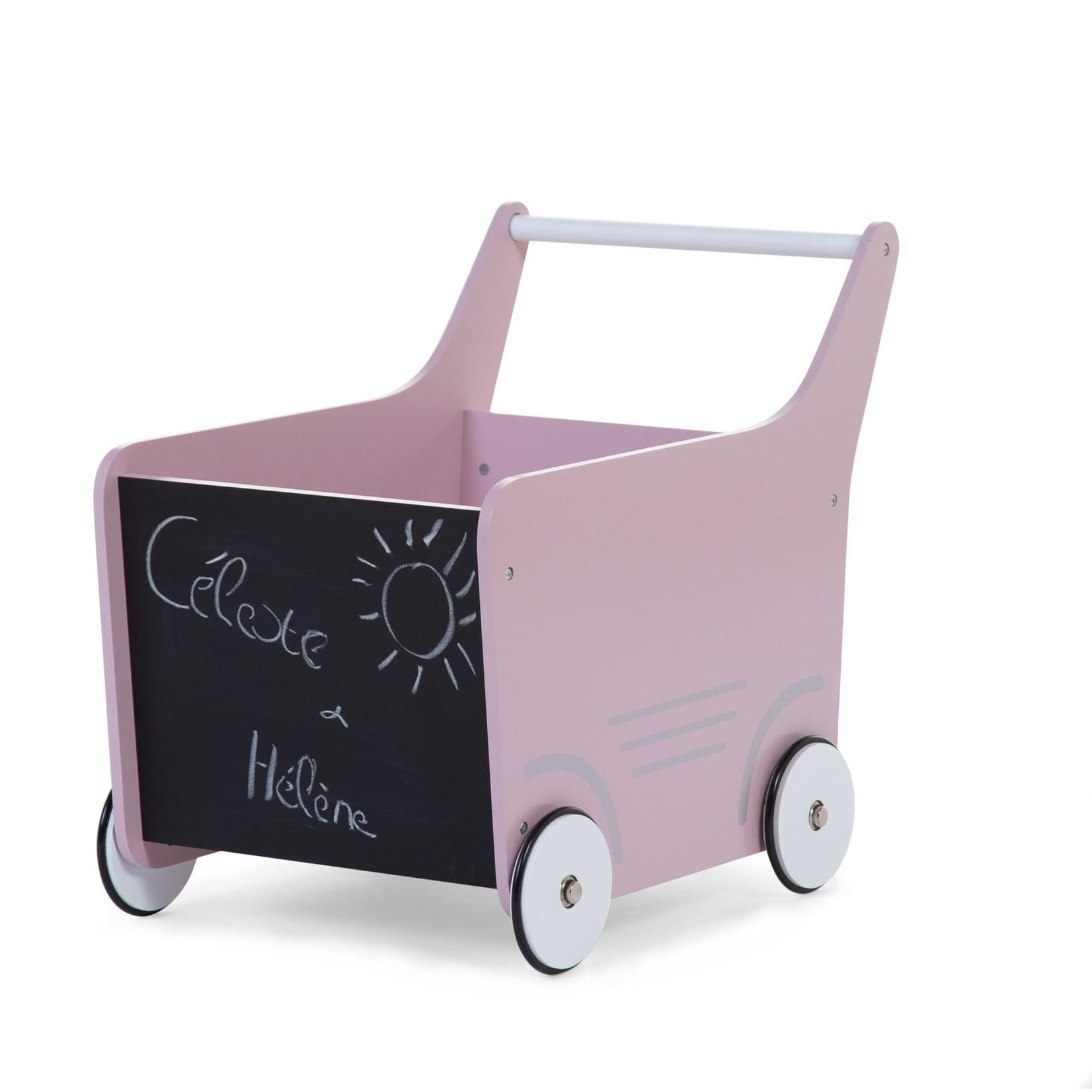 Childhome Loopwagen (Roze)