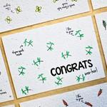 """BLOOM Your Message Bloeikaart """"Congrats"""""""
