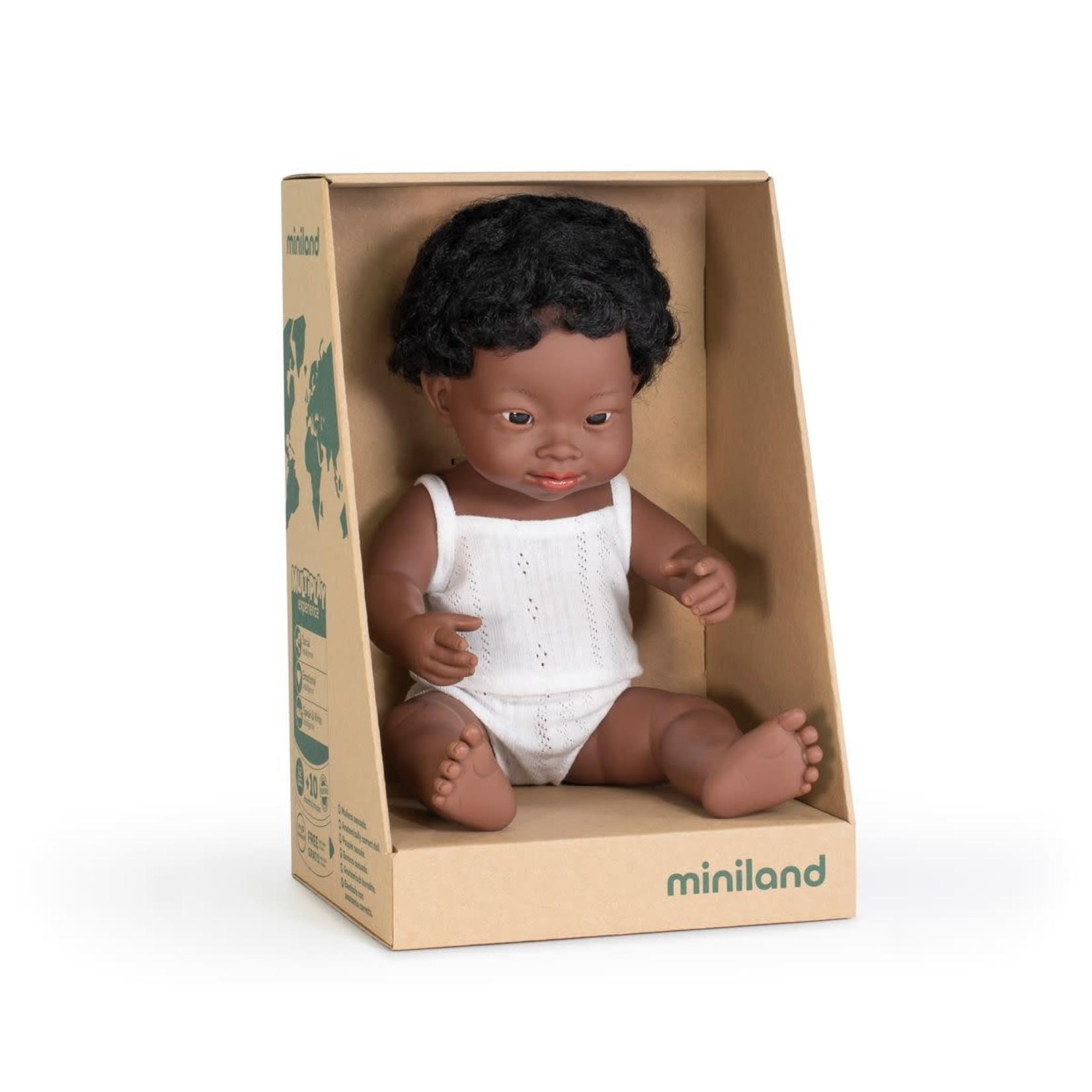 Miniland Pop Afrikaanse jongen met syndroom van down (38cm)