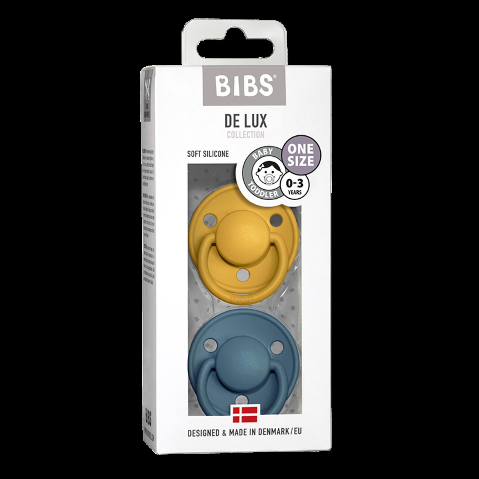 BIBS Fopspeen De Lux Silicone (Mustard/Petrol)