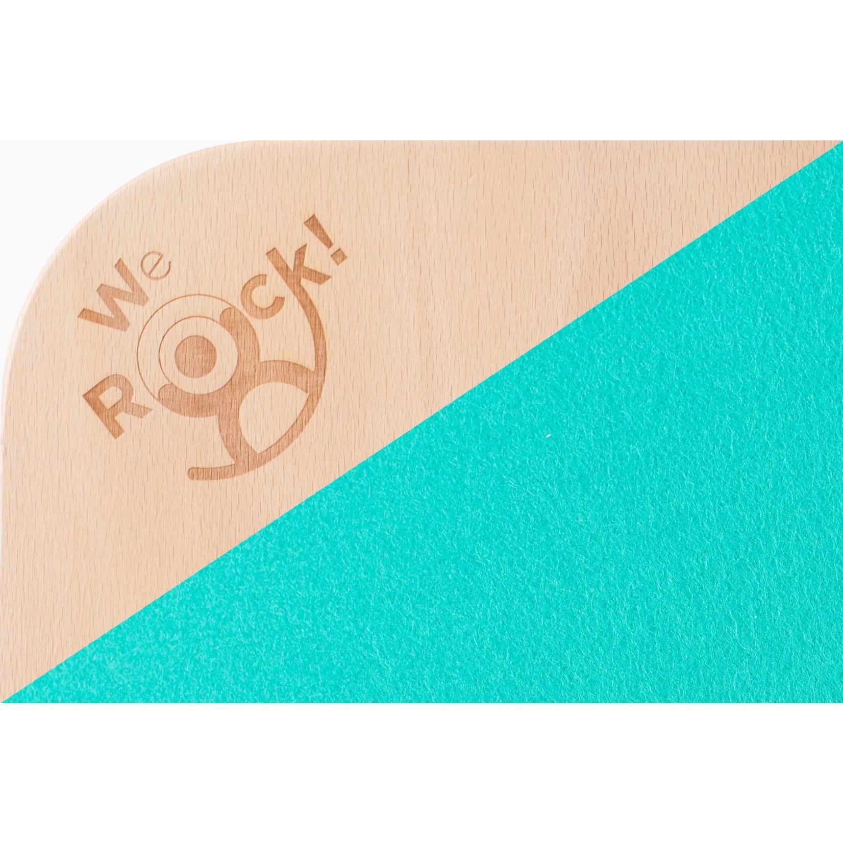 We Rock! Rocker Board Classic - Getrapte rand (Blauw-Groen)