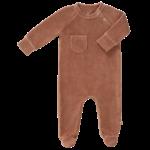 Fresk Pyjama velours met voet (Tawny Brown)