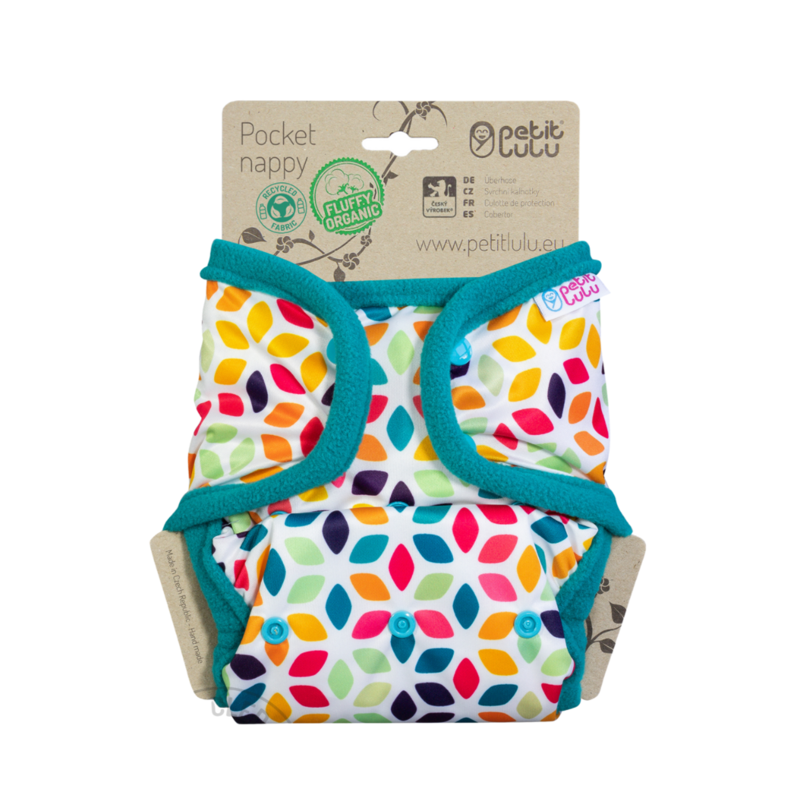 Petit Lulu Pocketluier (Floral Cubes) Snaps