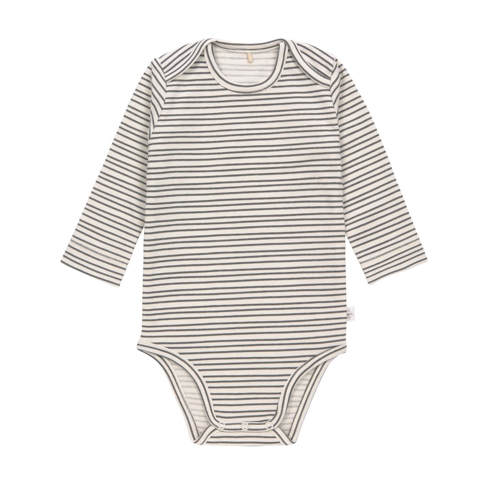 Lässig Body lange mouwen (Striped Grey/Anthracite)