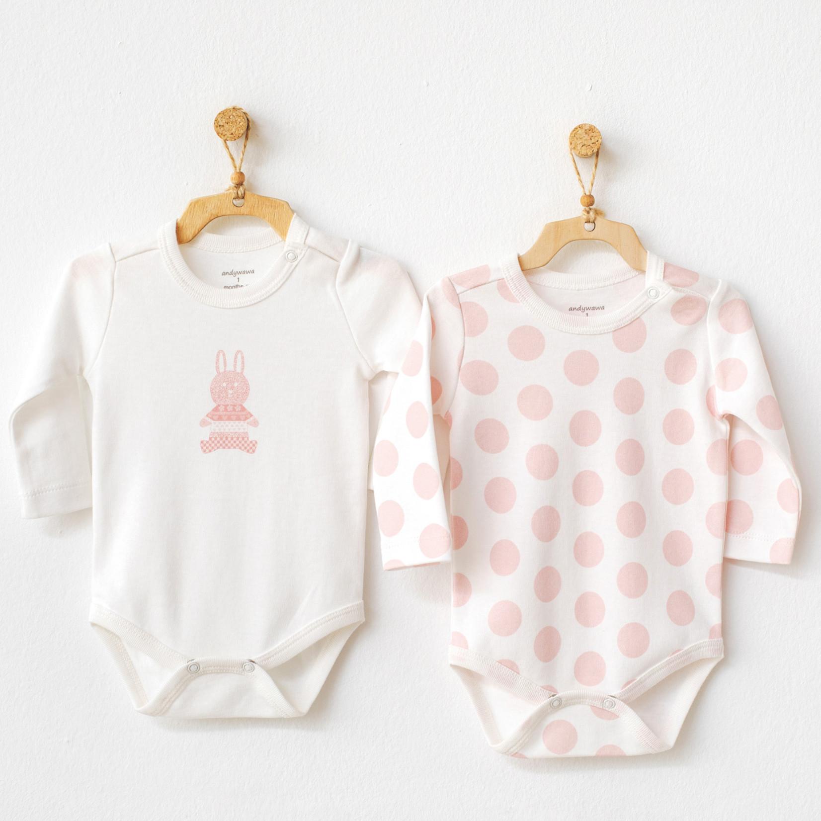 Set van 2 Babymeisjes Rompertjes Polka Dot