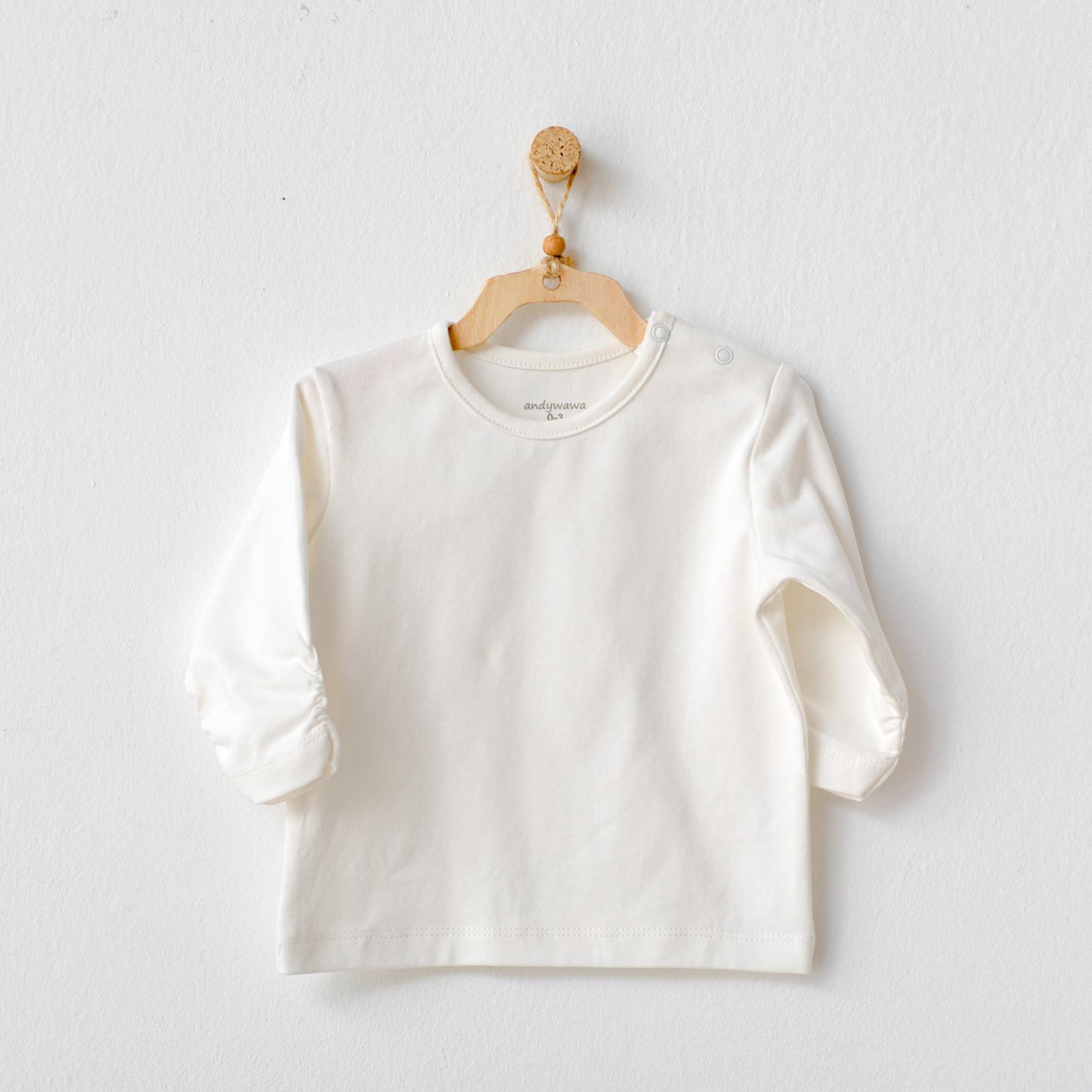 T-shirt voor Babymeisjes Ecru