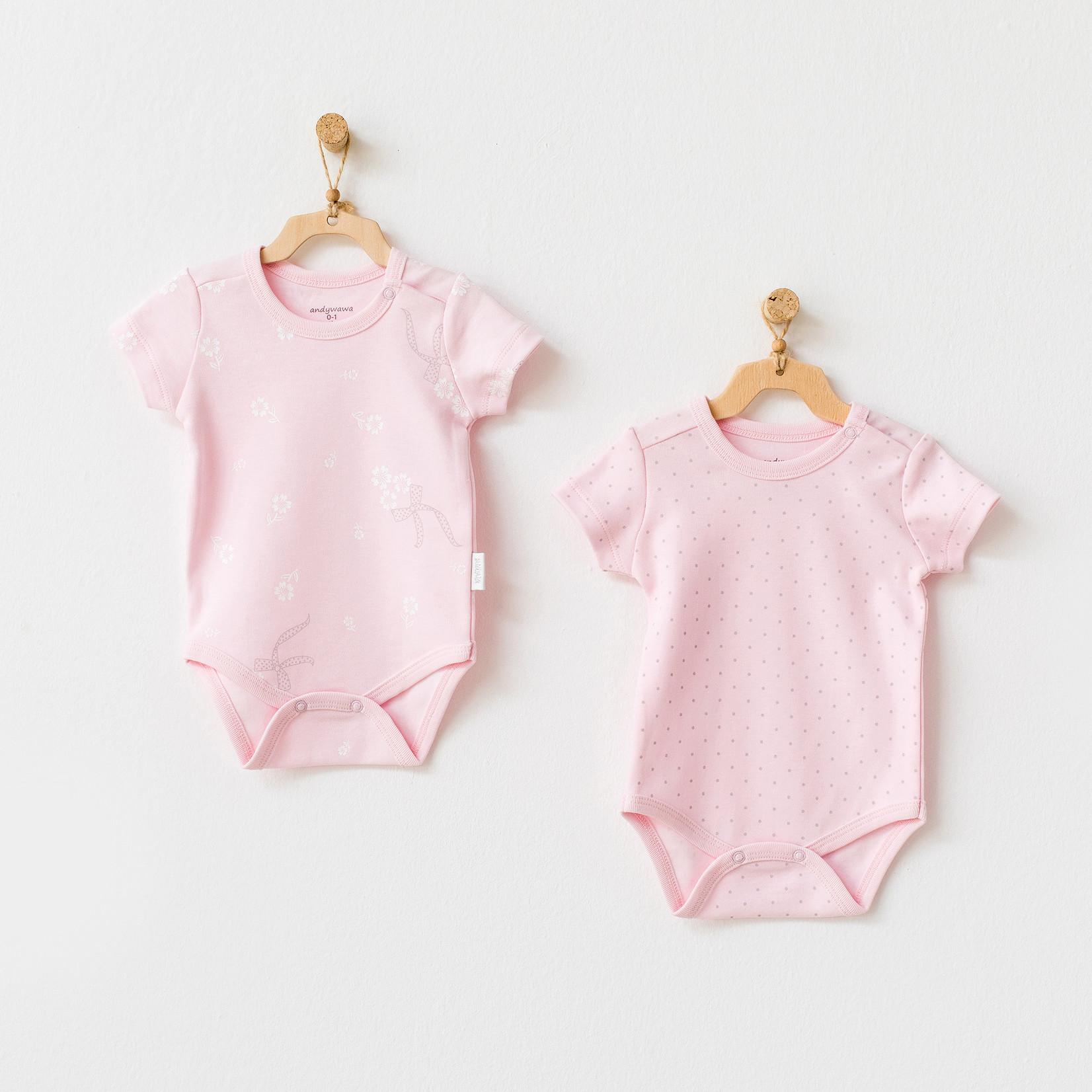 Set van 2 Babymeisjes Rompertjes