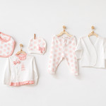 Babymeisjes Newborn Set Polka Dot