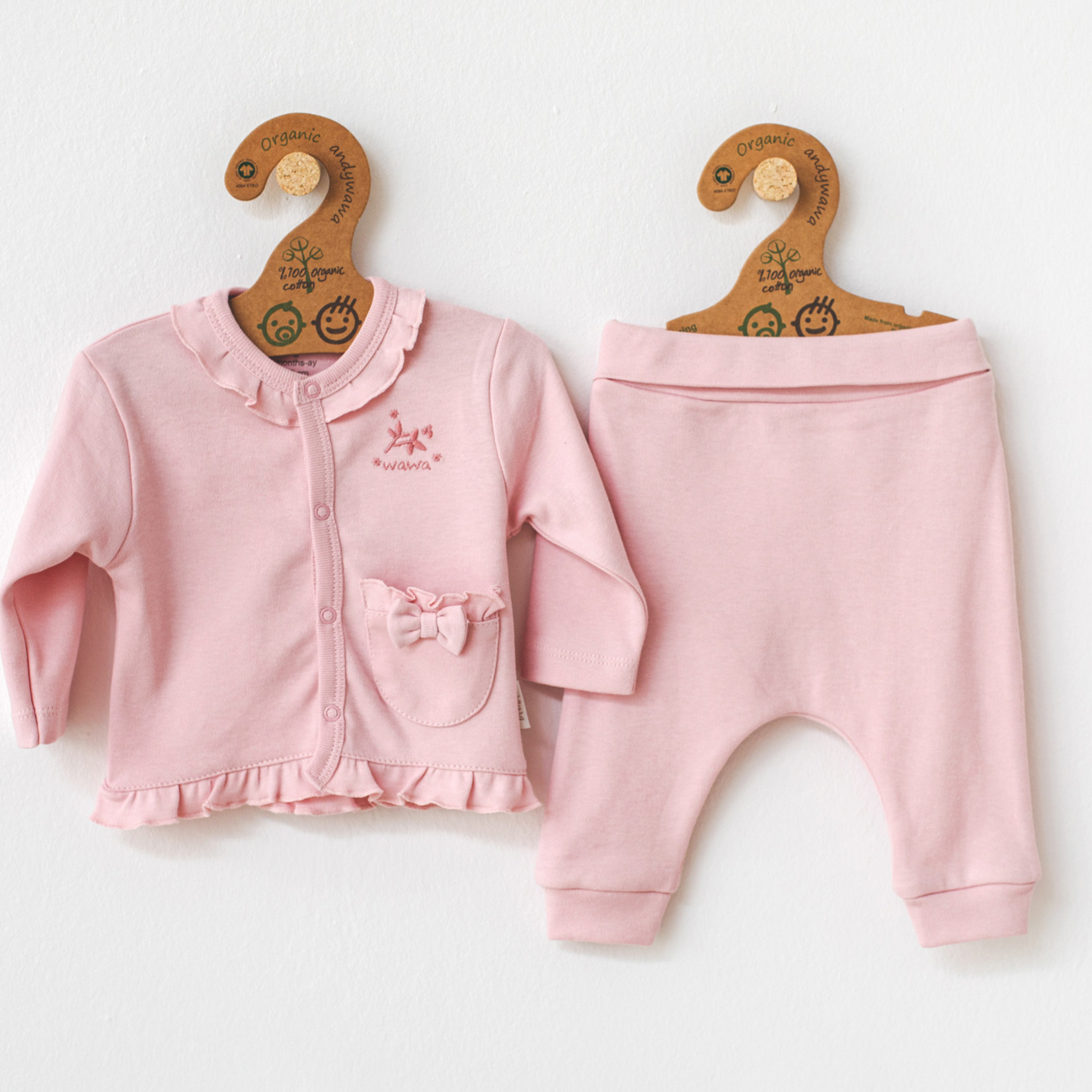 Babymeisjes Biologische Set Natura Wawa