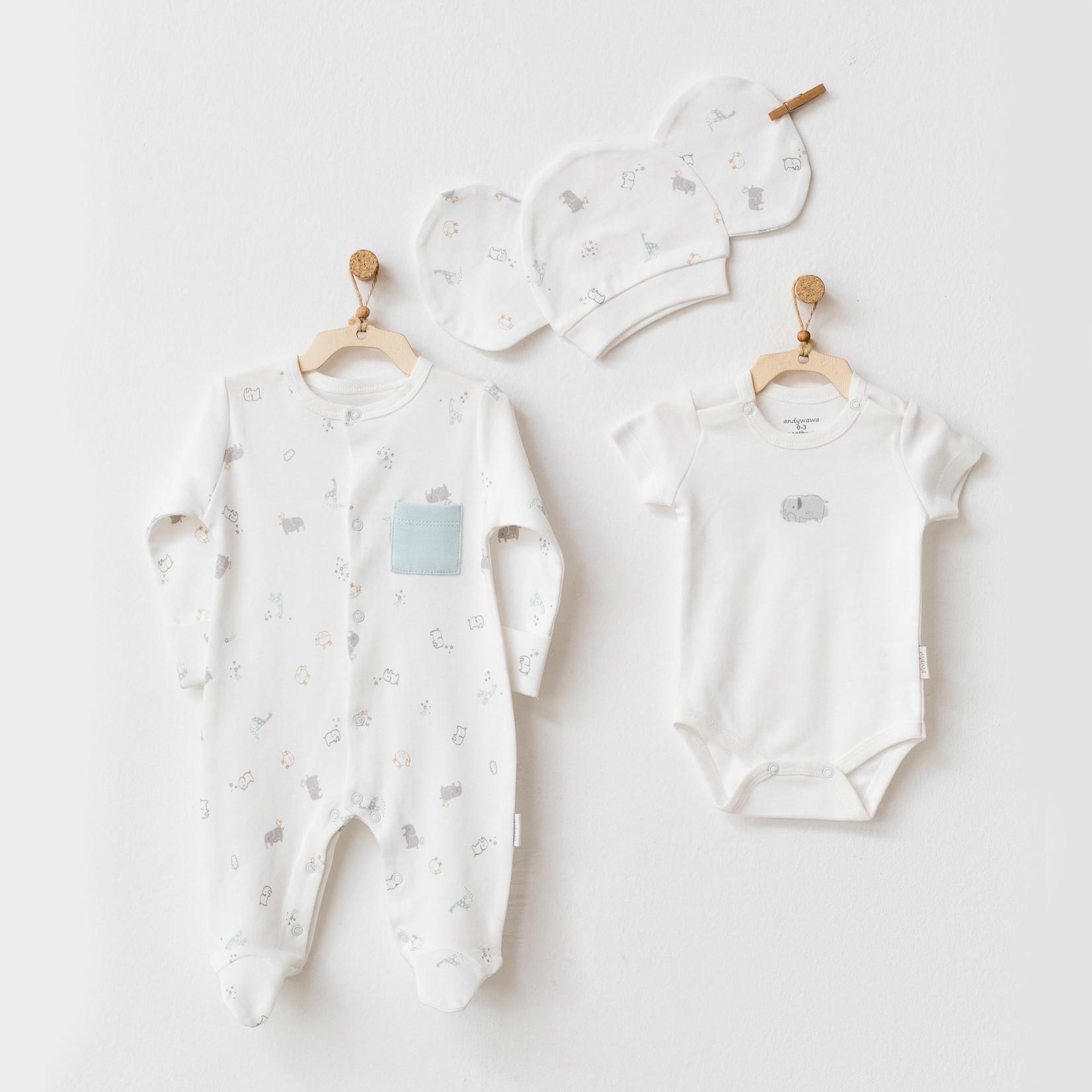 Driedelige Romper & Pakje Set voor Baby's Biologisch Katoen