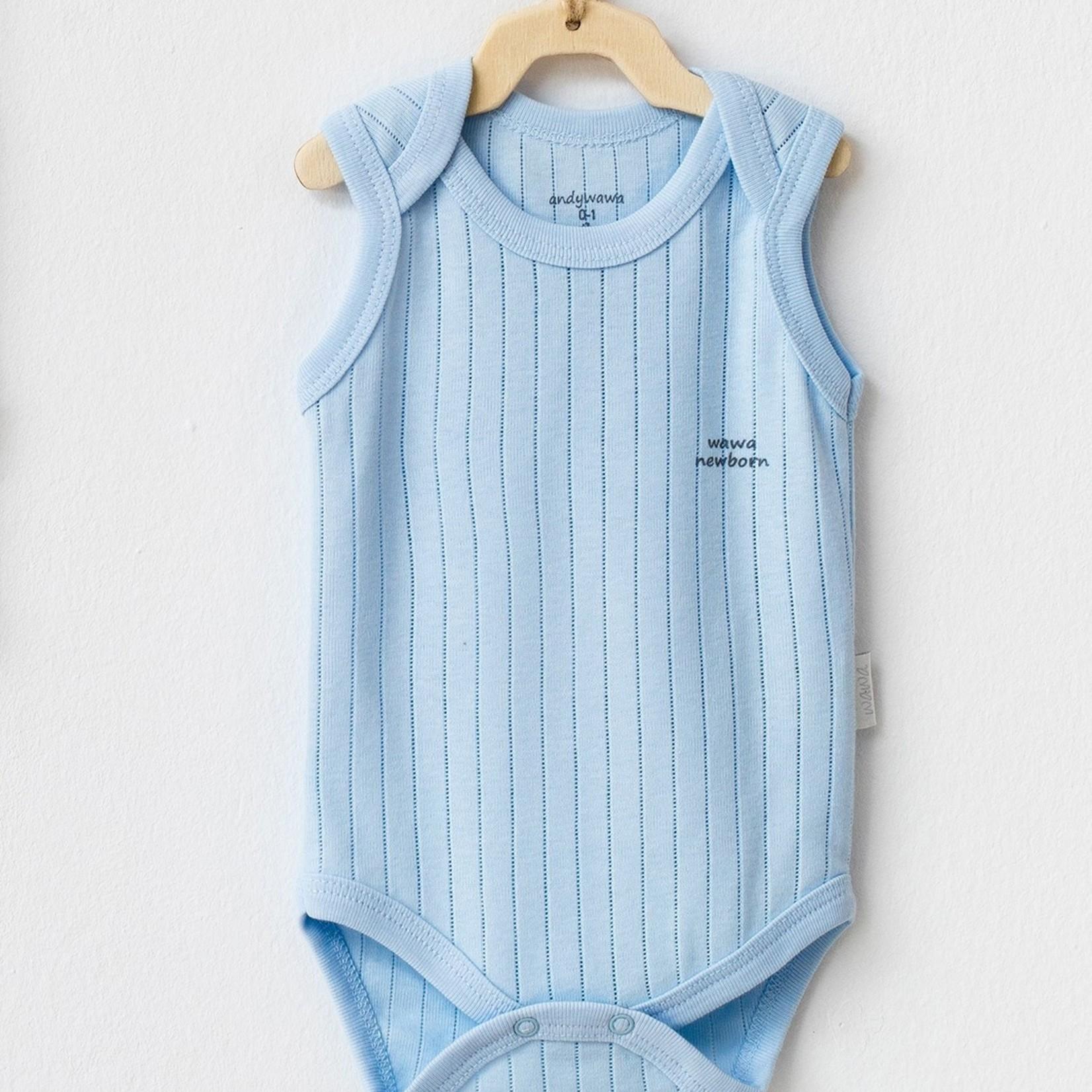 Set van 2 Mouwloze Babyjongens Rompers