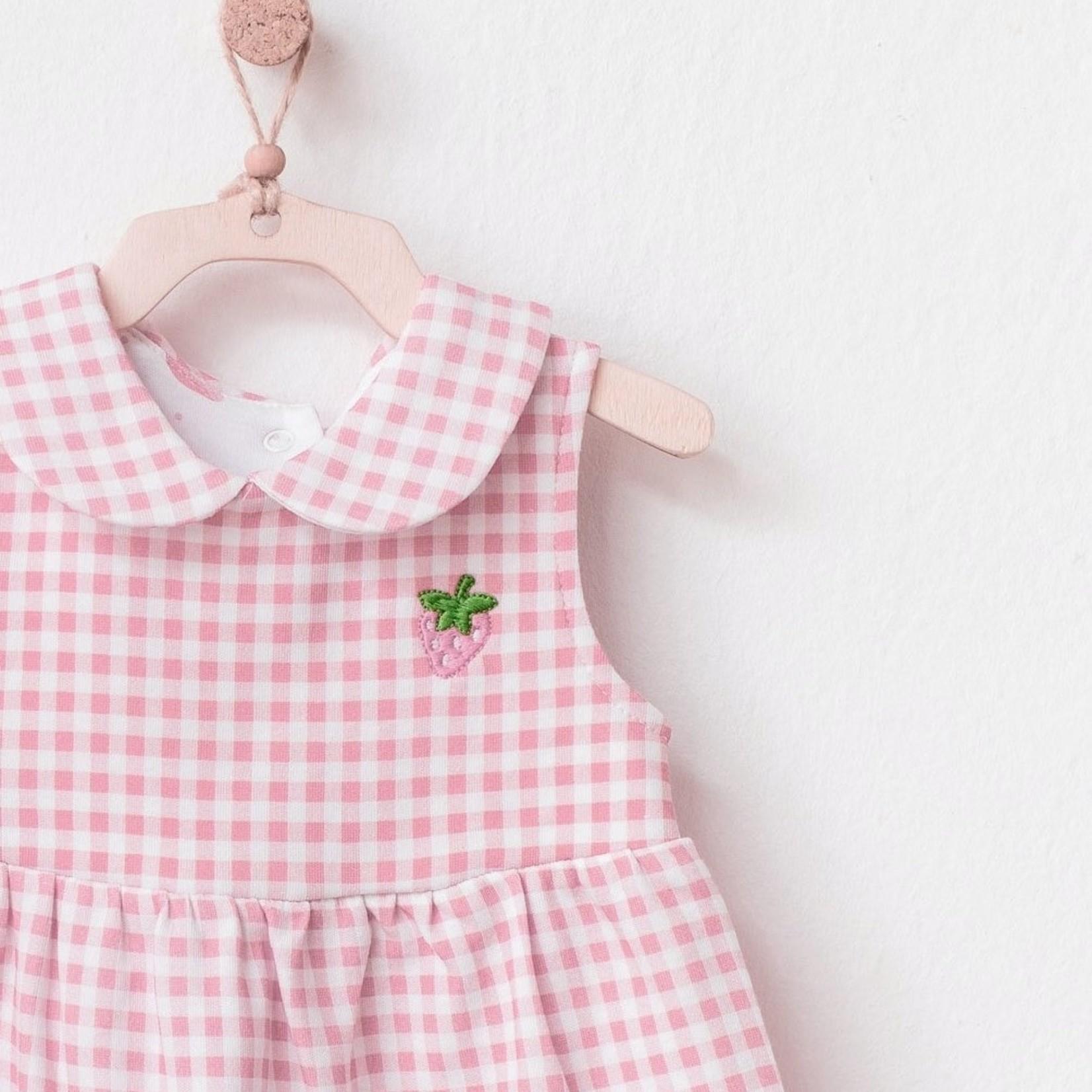 Babymeisje Jurk met Aardbeienprint