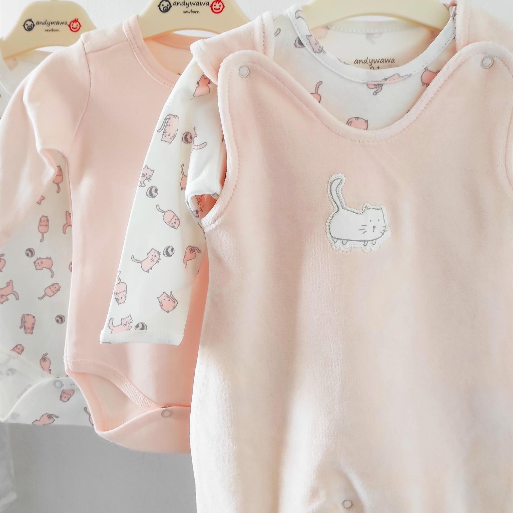 Babymeisjes Fluwelen Pakje Set