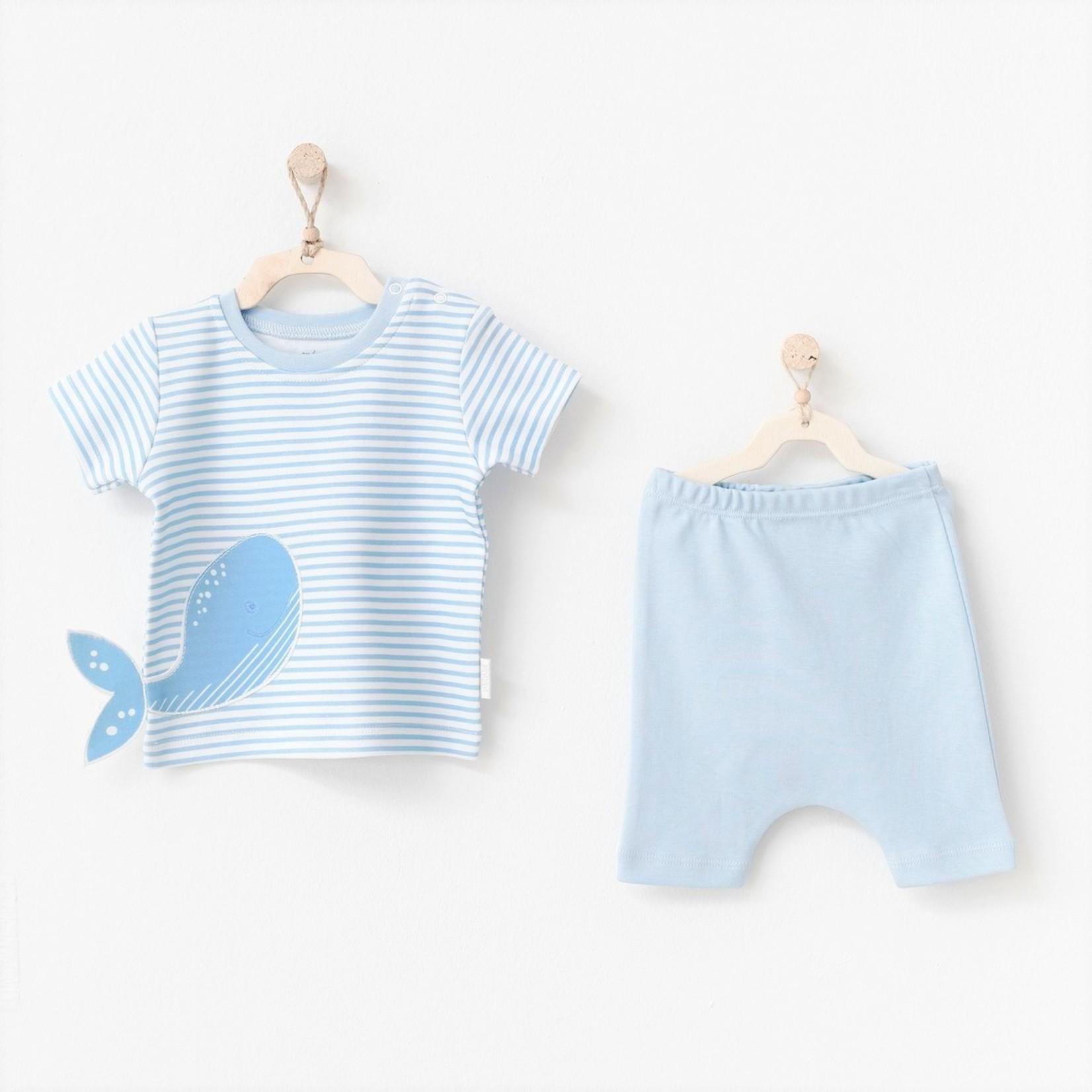 Tweedelige Set voor Babyjongens Cute Whale