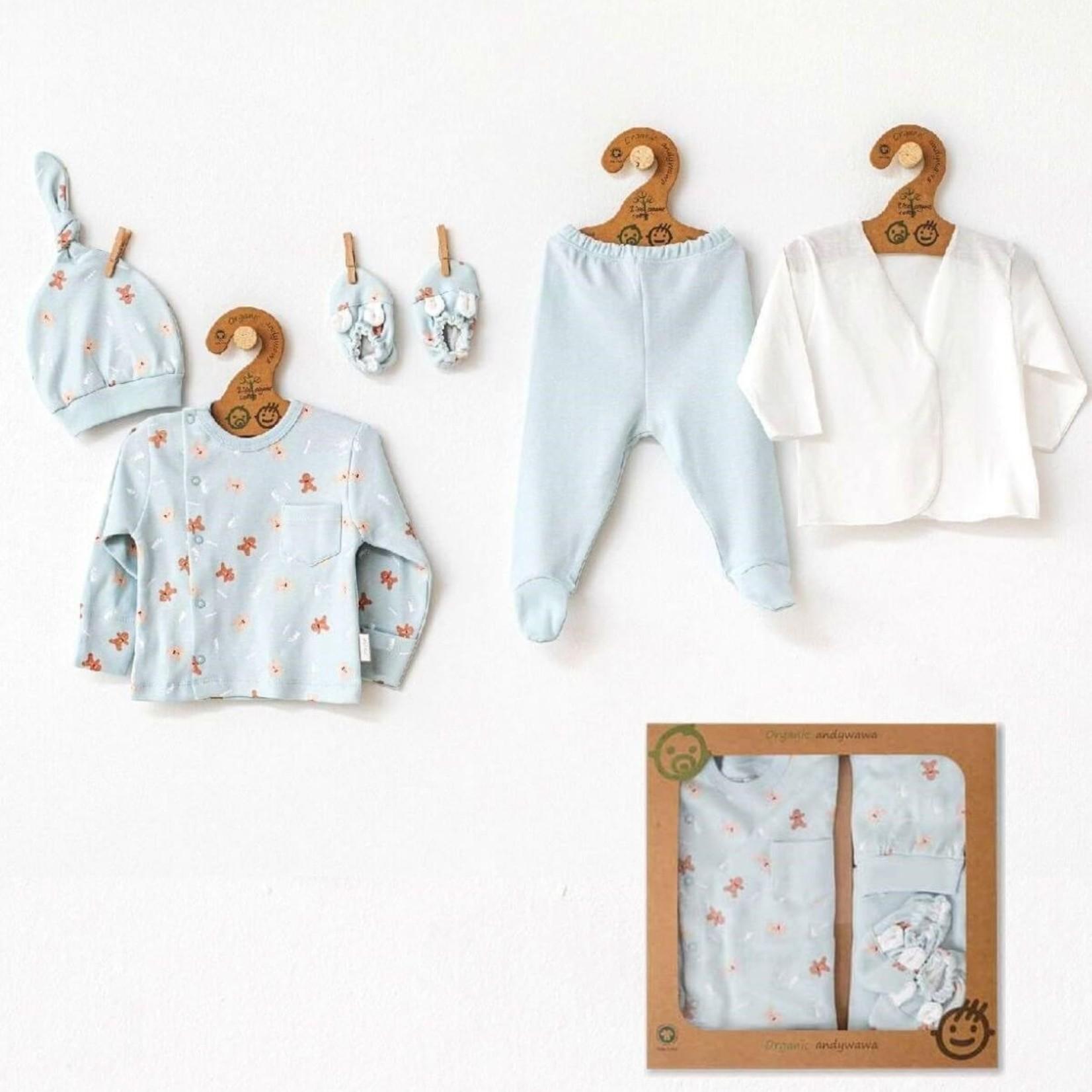Babyjongens Biologische Newborn Set Natura Wawa