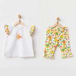 Babymeisjes Set met Bloemenprint
