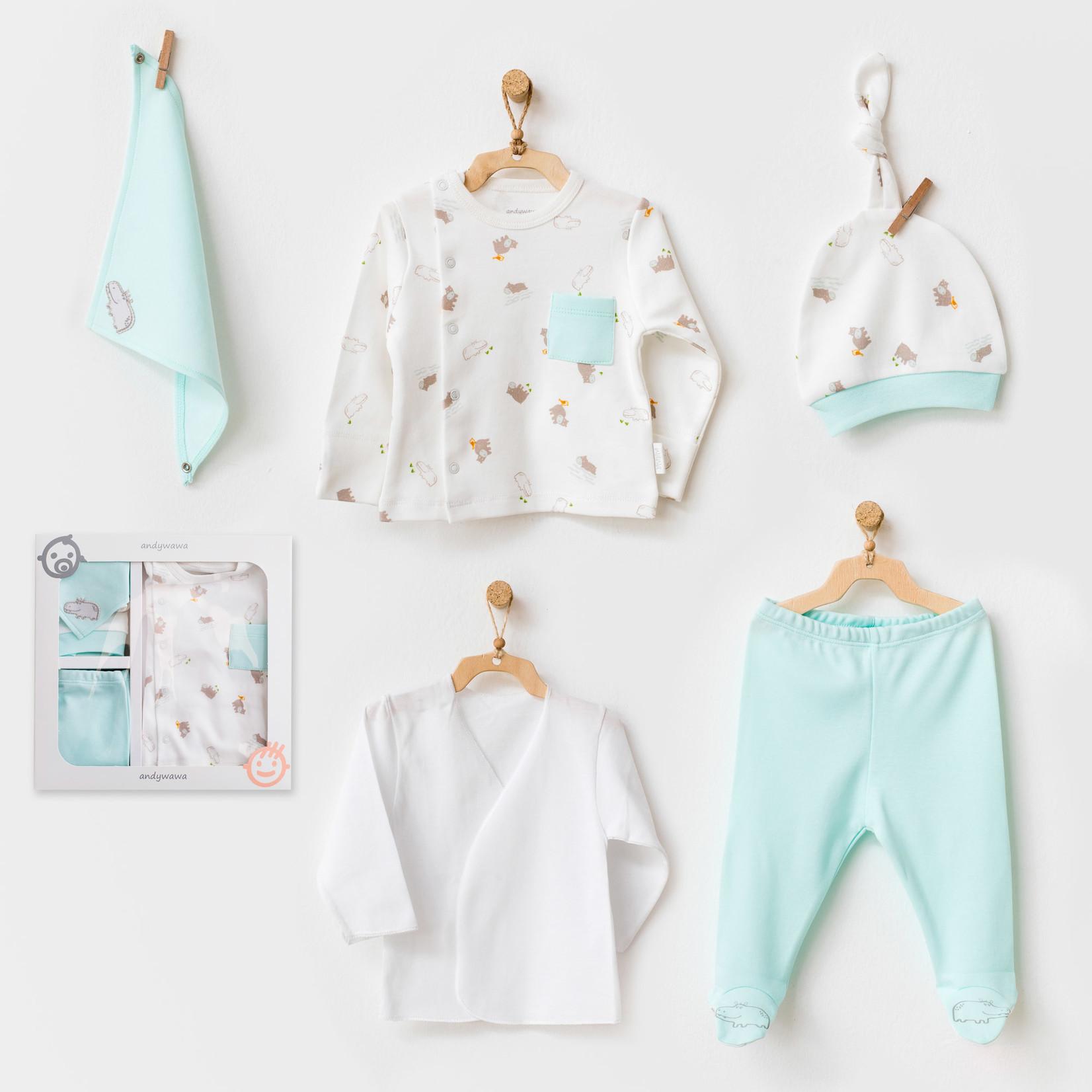 Babyjongens Newborn Set Hippo