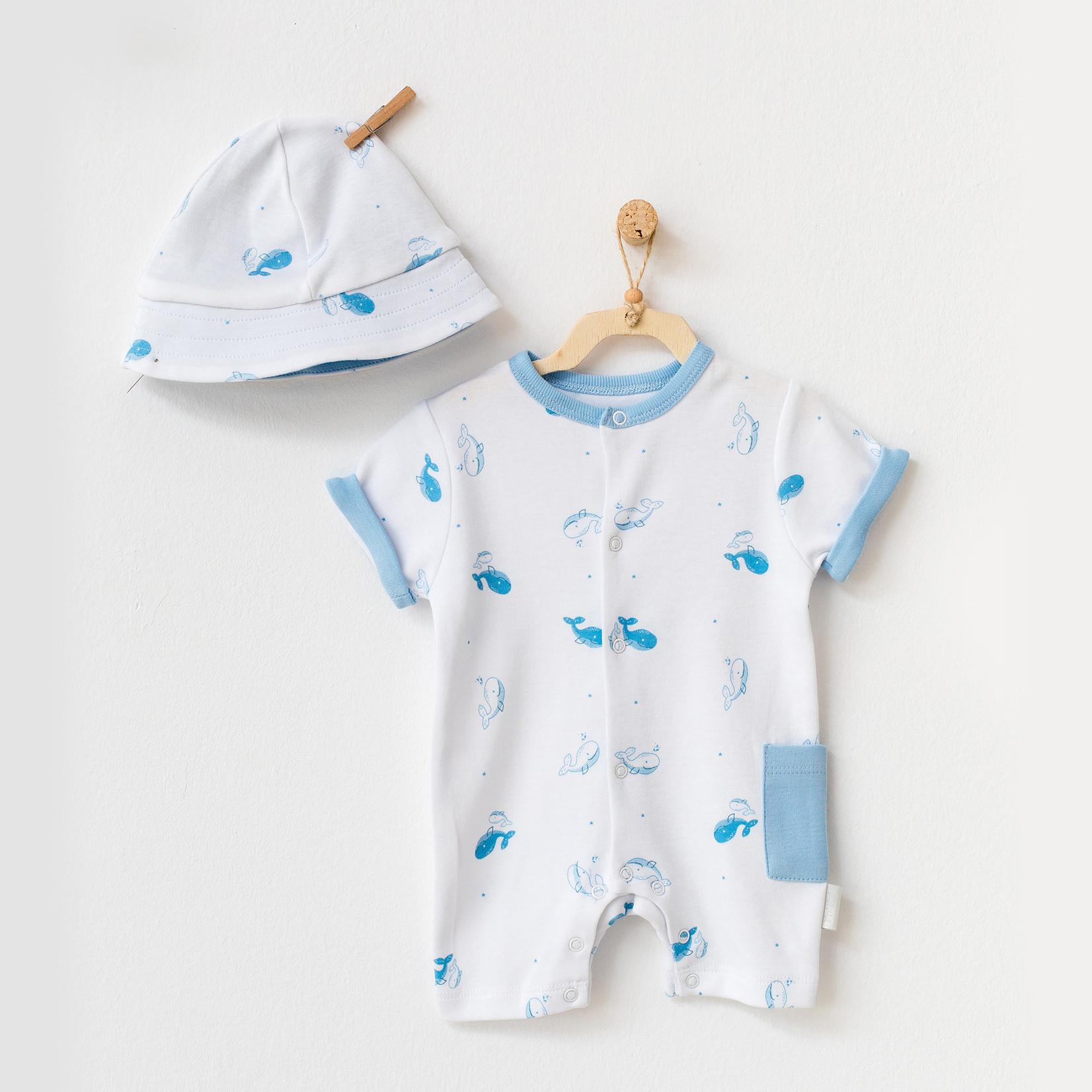 Babyjongens Zomer Pakje met Muts Cute Whale