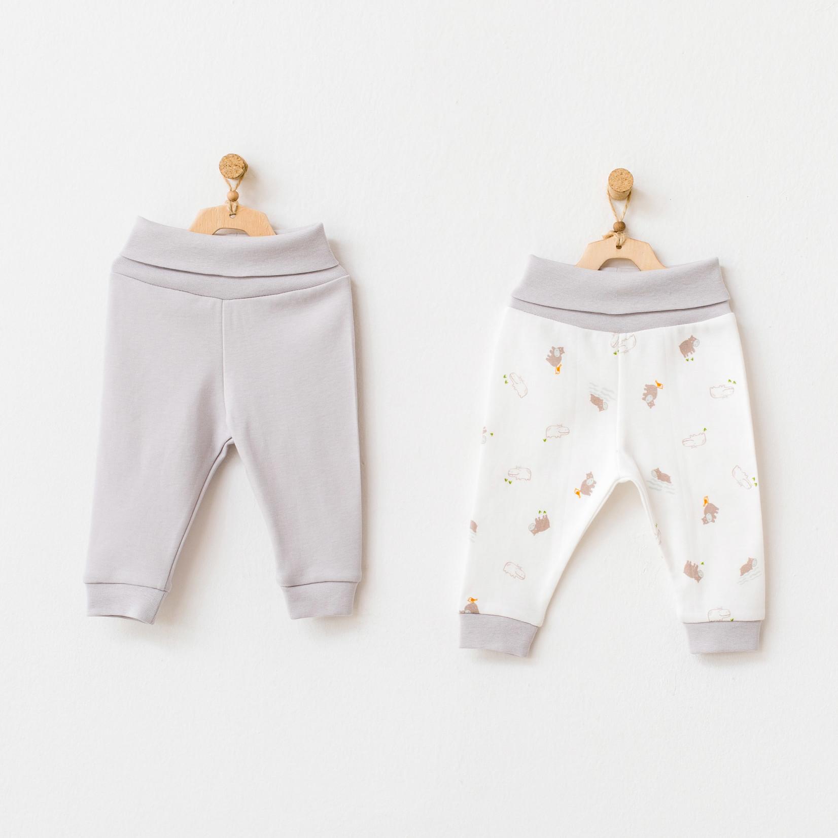 Set van 2 Babyjongens Broekjes Hippo
