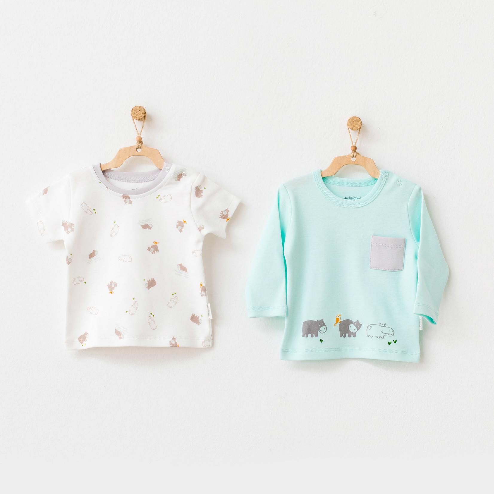 Babyjongens T-shirts Set Hippo