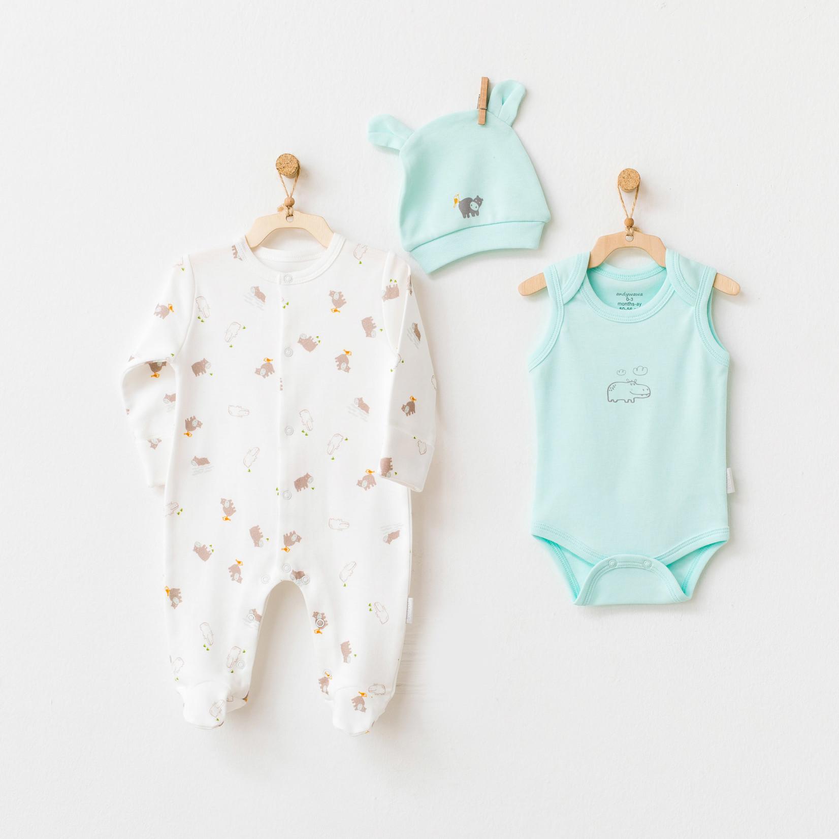 Romper & Pakje & Muts Set voor Baby's