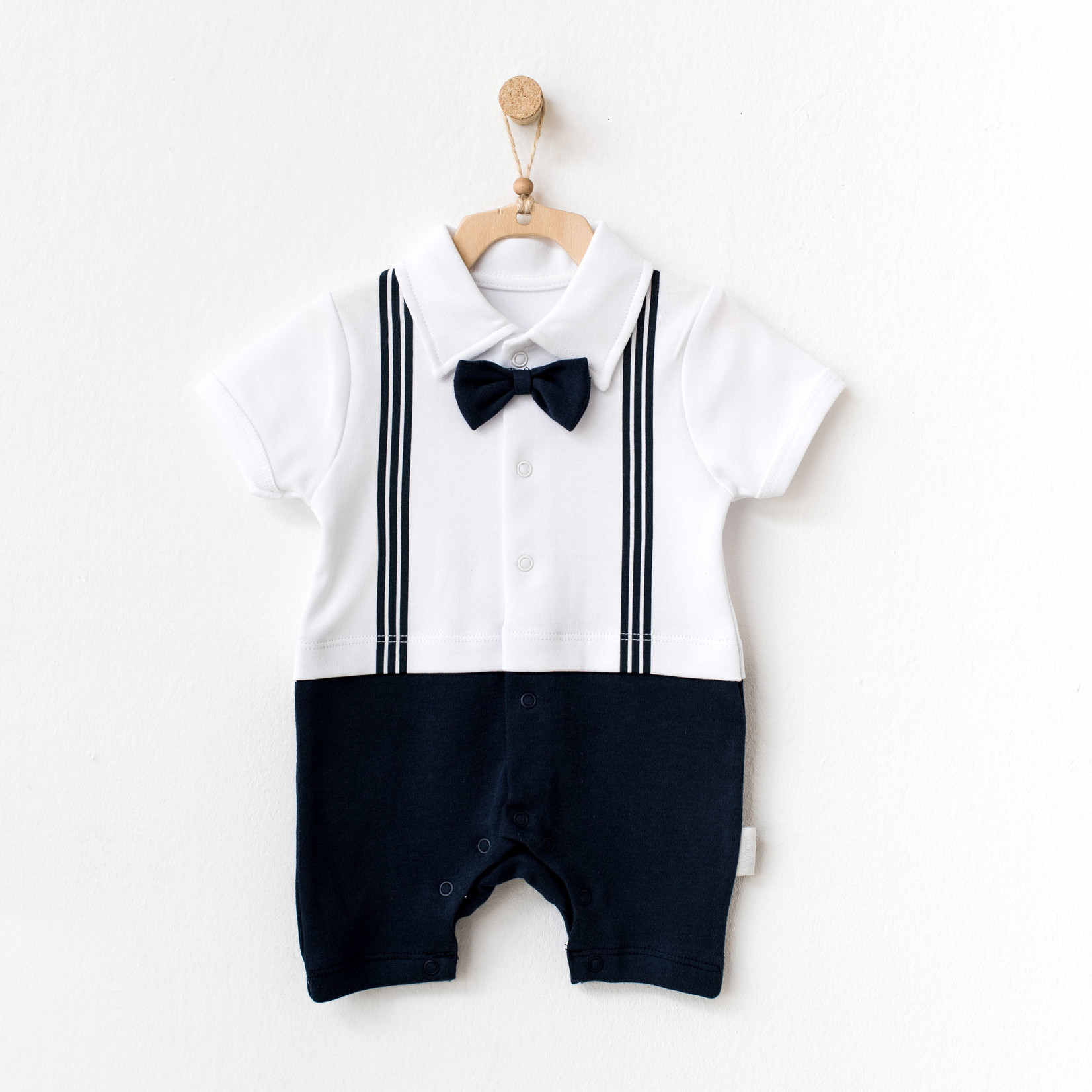 Babyjongens Pakje met Vlinderdas Donkerblauw