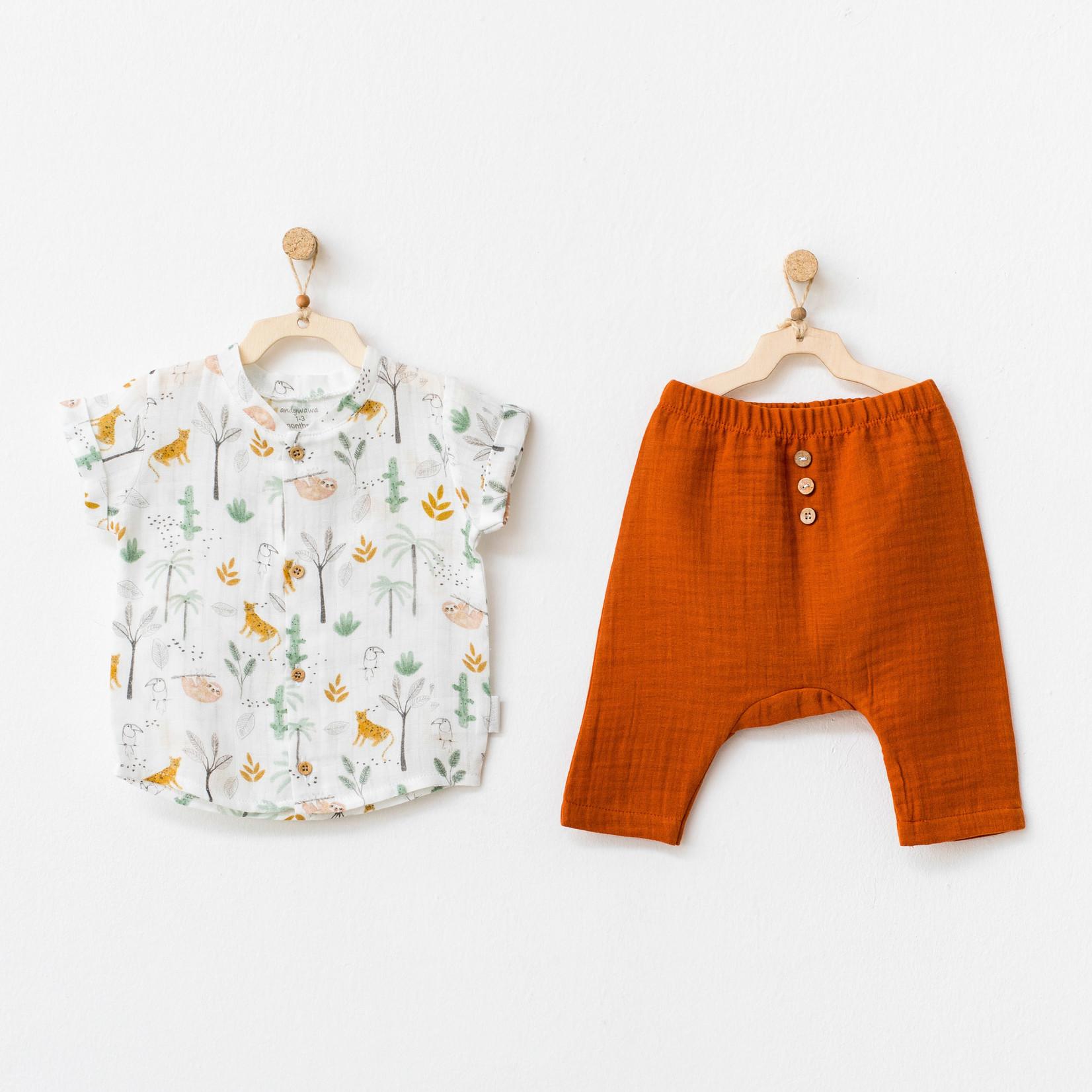 Babyjongens Overhemd & Broekje Set