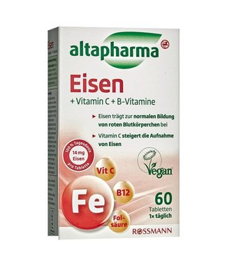 ALTAPHARMA ALTAPHARMA  Ijzer + Vitamine C + Vitamine B6, B12