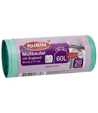 RUBIN RUBIN Vuilniszakken (Trekkoord) 60L