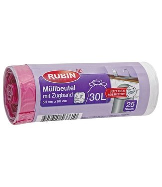 RUBIN RUBIN Vuilniszakken (Trekkoord) 30L