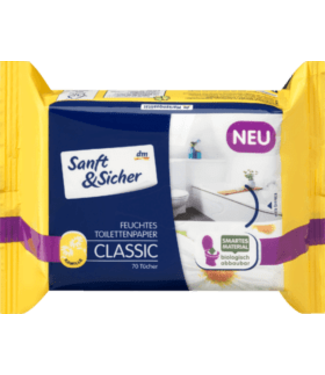 Sanft & Sicher Sanft&Sicher Vochtig Toiletpapier Classic Kamille Navulpak