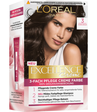 L'Oreal L'Oreal Excellence Haarverf Donkerbruin 3