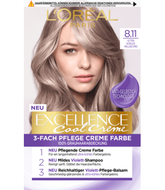 L'Oreal L'Oreal Excellence Haarverf Lichtblond 8.11